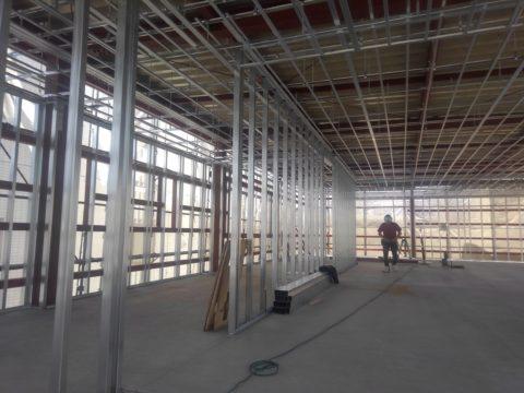 愛知県某所 軽天工事&内装工事の施工風景